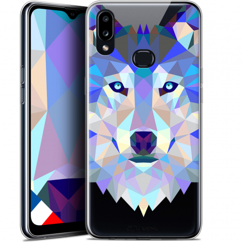 "Carcasa Gel Extra Fina Samsung Galaxy A10S (6.1"") Polygon Animals Lobo"