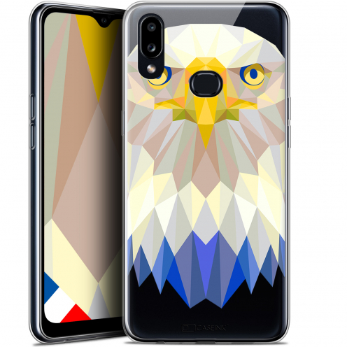 "Carcasa Gel Extra Fina Samsung Galaxy A10S (6.1"") Polygon Animals Águila"