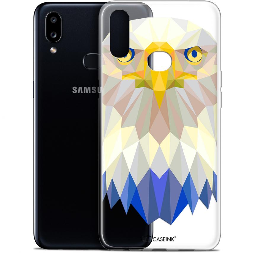 "Carcasa Gel Extra Fina Samsung Galaxy A10S (6.1"") Polygon Animals Águila"