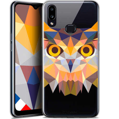 "Carcasa Gel Extra Fina Samsung Galaxy A10S (6.1"") Polygon Animals Búho"