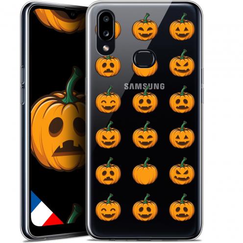 "Carcasa Gel Extra Fina Samsung Galaxy A10S (6.1"") Halloween Smiley Citrouille"