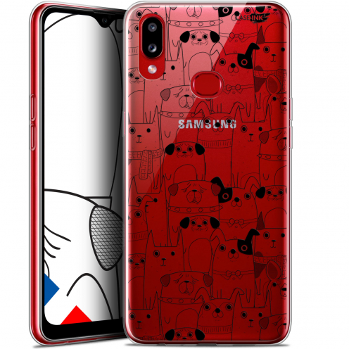 "Carcasa Gel Extra Fina Samsung Galaxy A10S (6.1"") Design Chien Noir"
