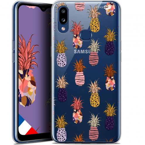 "Carcasa Gel Extra Fina Samsung Galaxy A10S (6.1"") Design Ananas Gold"