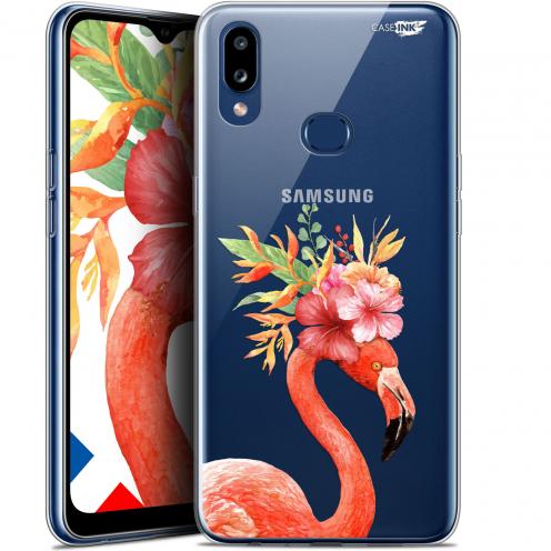"Carcasa Gel Extra Fina Samsung Galaxy A10S (6.1"") Design Flamant Rose Fleuri"