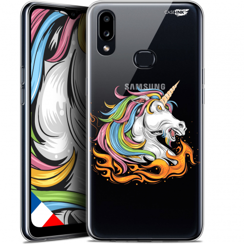 "Carcasa Gel Extra Fina Samsung Galaxy A10S (6.1"") Design Licorne de Feu"