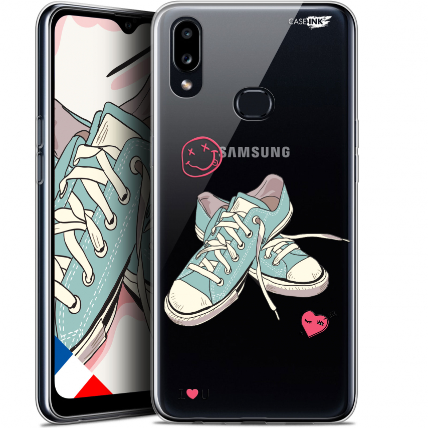 """Carcasa Gel Extra Fina Samsung Galaxy A10S (6.1"""") Design Mes Sneakers d'Amour"""