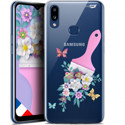 "Carcasa Gel Extra Fina Samsung Galaxy A10S (6.1"") Design Pinceau à Fleurs"