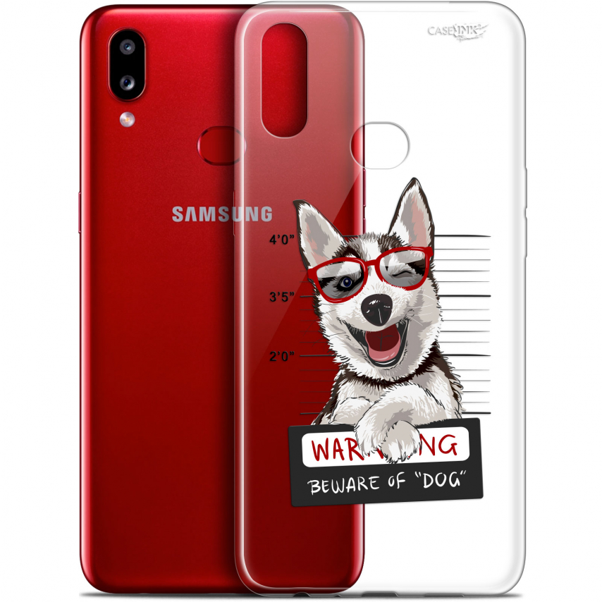 "Carcasa Gel Extra Fina Samsung Galaxy A10S (6.1"") Design Beware The Husky Dog"