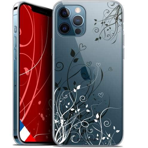 "Carcasa Gel Extra Fina Apple iPhone 12 Pro MAX (6.7"") Love Hearts Flowers"