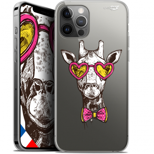"Carcasa Gel Extra Fina Apple iPhone 12 Pro MAX (6.7"") Design Hipster Giraffe"