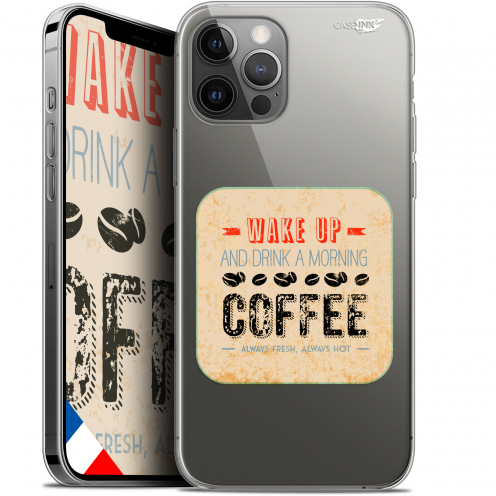 "Carcasa Gel Extra Fina Apple iPhone 12 Pro MAX (6.7"") Design Wake Up With Coffee"