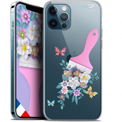 "Carcasa Gel Extra Fina Apple iPhone 12 Pro MAX (6.7"") Design Pinceau à Fleurs"