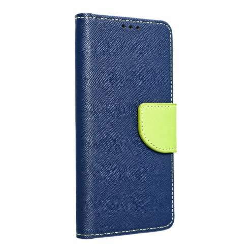 Fancy Book carcasa for Samsung A71 navy/lime