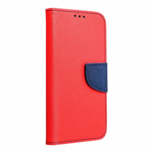 Fancy Book carcasa for Nokia 230 red/navy