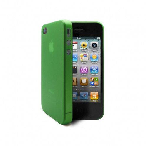 Shell Ultra fino 0.3mm Frost iPhone 4 / 4 S verde