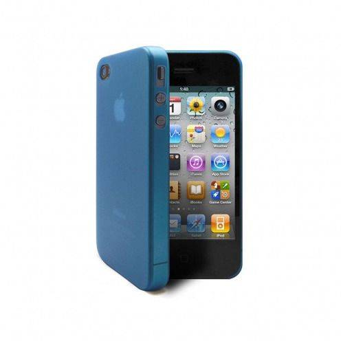 Shell Ultra fino 0.3mm Frost iPhone 4 / 4 S azul