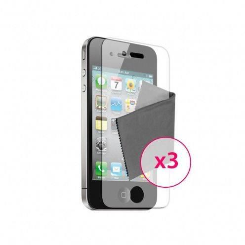 Películas de Protección antihuellas iPhone 4 / 4S Clubcase ® Lote de 3