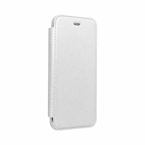 Forcell ELECTRO BOOK carcasa for Samsung A50 silver