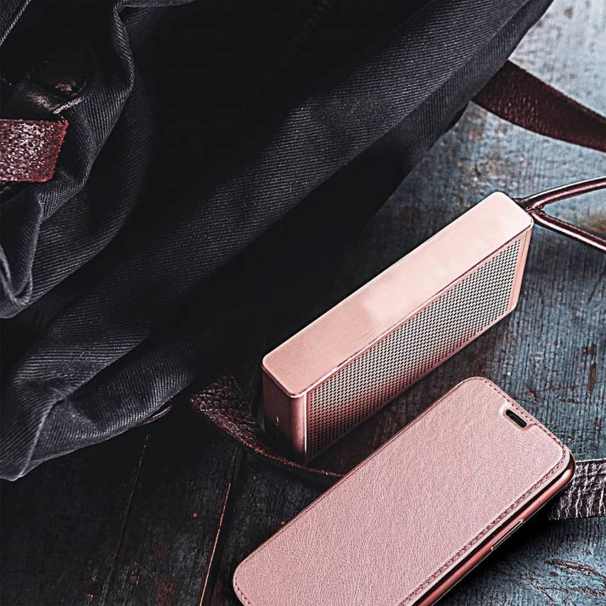 Forcell ELECTRO BOOK carcasa for Samsung A10 rose gold