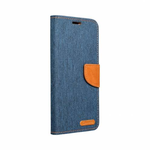 Canvas Book carcasa for Huawei P Smart 2019 navy blue