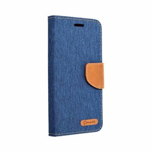 Canvas Book carcasa for Samsung Galaxy A8 2018 blue