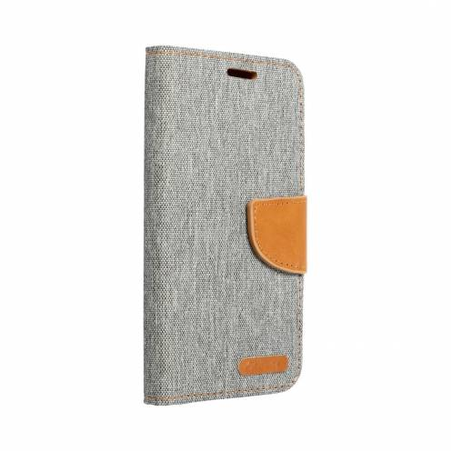 Canvas Book carcasa for Apple iPhone X gray
