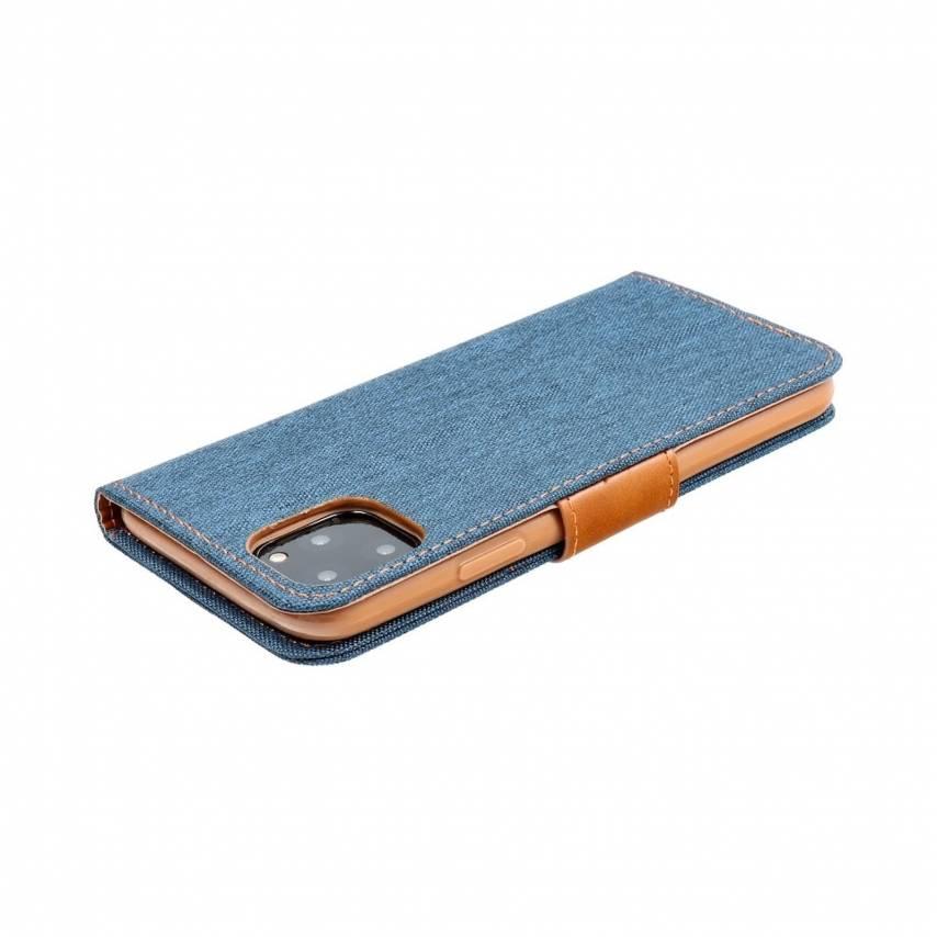 Canvas Book carcasa for Samsung A10 navy blue