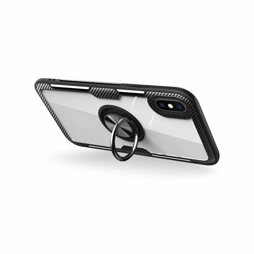 Forcell CARBON CLEAR RING carcasa for iPhone 12 / 12 PRO black