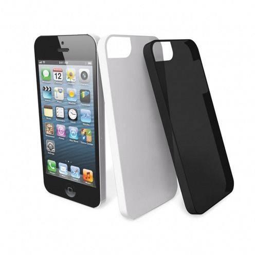 2 cascos blanco Muvit ® Ultra fino negro para iPhone 5