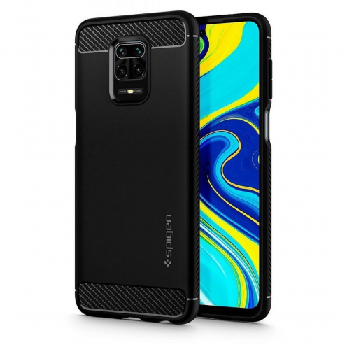 SPIGEN Rugged Armor for Xiaomi REDMI NOTE 9S / 9 PRO / 9 PRO MAX matte black