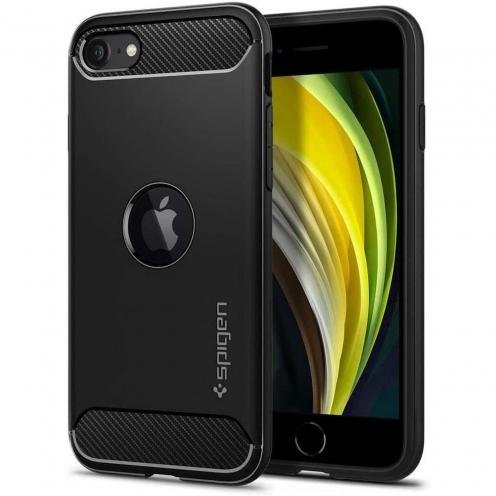Spigen© Rugged Armor for iPhone SE 2020 black