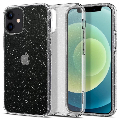 Spigen© Liquid Crystal for iPhone 12 MINI glitter Transparent