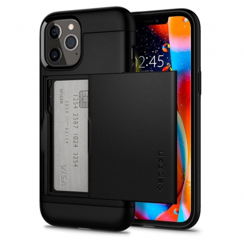 Spigen© Slim Armor CS for iPhone 12 / 12 PRO black
