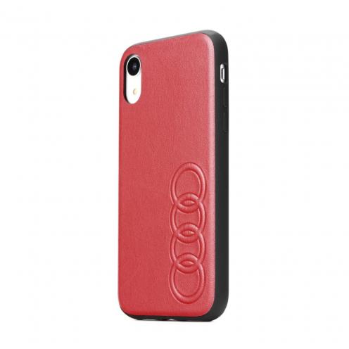 Original AUDI Leather Case AU-TPUPCIPXSM-TT/D1-RD iPhone Xs Max red
