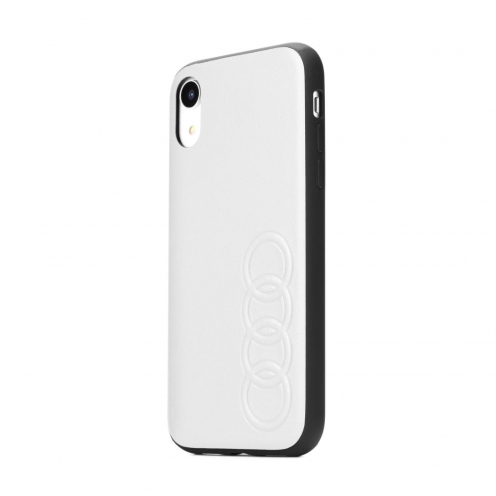 Original AUDI Leather Case AU-TPUPCIPXSM-TT/D1-WE iPhone Xs Max white