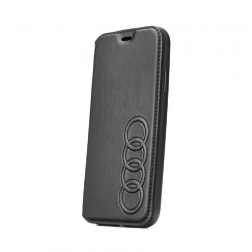 Original AUDI Leather Folio Case AU-TPUFCIP8-TT/D1-BK iPhone 8 black
