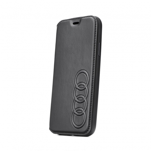 Original AUDI Leather Folio Case AU-TPUFCIPXSM-TT/D1-BK iPhone Xs Max black