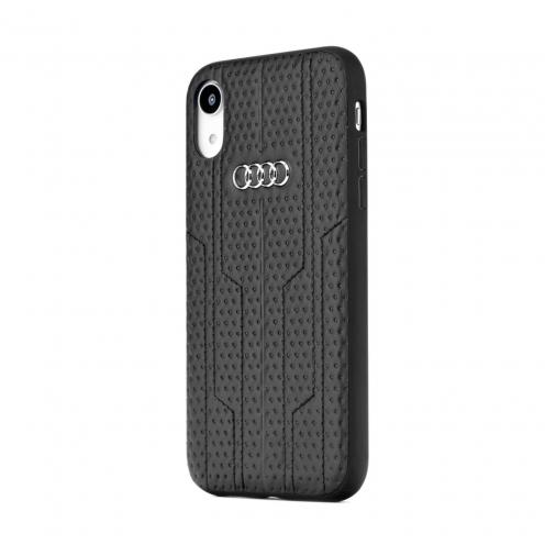 Original AUDI Leather Case A6/D1 AU-TPUPCIP8-A6/D1-BK iPhone 8