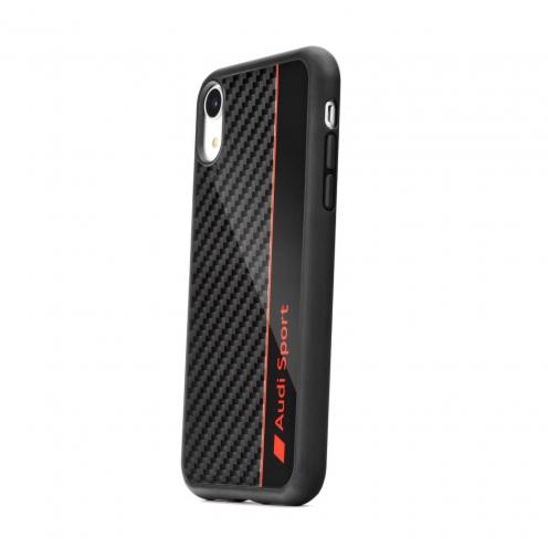 Original S-Skin AUDI Carbon Fibre Case AUS-TPUPCIP8-R8/D1-BK iPhone 8 black