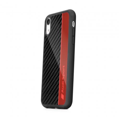 Original AUDI Carbon Fibre Case AUS-TPUPCIPXSM-R8/D1-RD iPhone Xs Max red