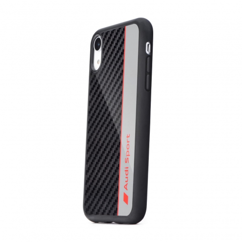 Original AUDI Carbon Fibre Case AUS-TPUPCIPXSM-R8/D1-GY iPhone Xs Max grey
