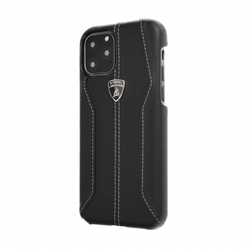 Original Leather Back Case Lamborghini Huracan-D1 LB-HCIP11M-HU/D1-BK iPhone 11 Pro Max black