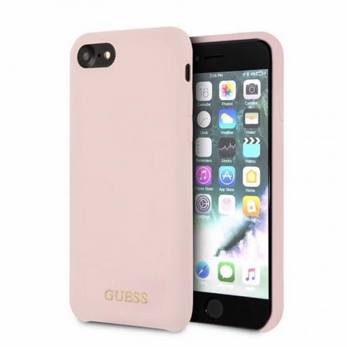 Original faceplate carcasa Guess© GUHCI8LSLMGLP iPhone 7/8 light pink