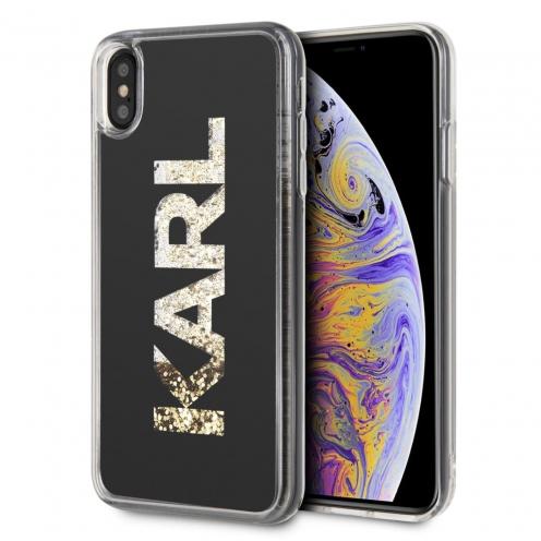 Original faceplate case KARL LAGERFELD KLHCI65KAGBK iPhone XS Max transparent