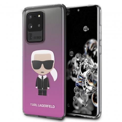 Original faceplate case Karl Lagerfeld® KLHCS69TRDFKPI SAM S20 Ultra różowy