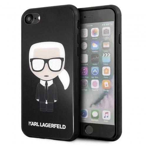 Original faceplate case Karl Lagerfeld® KLHCI8DLFKBK iPhone 7/8 black