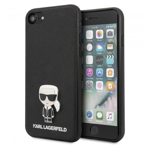 Original faceplate carcasa Karl Lagerfeld© KLHCI8IKFBMBK iPhone 7/8 black