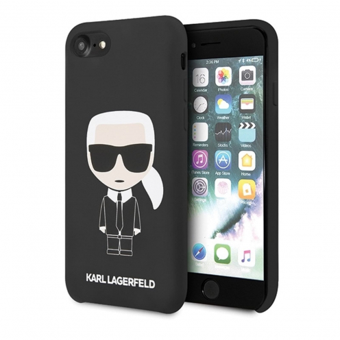 Original faceplate carcasa Karl Lagerfeld© KLHCI8SLFKBK iPhone 7/8 black