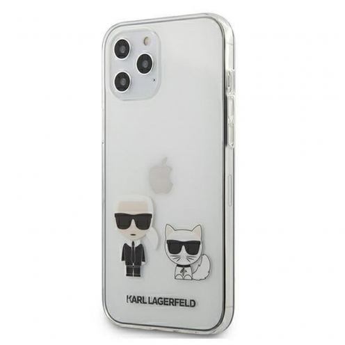 Original faceplate carcasa Karl Lagerfeld© KLHCP12LCKTR iPhone 12 PRO MAX Transparent