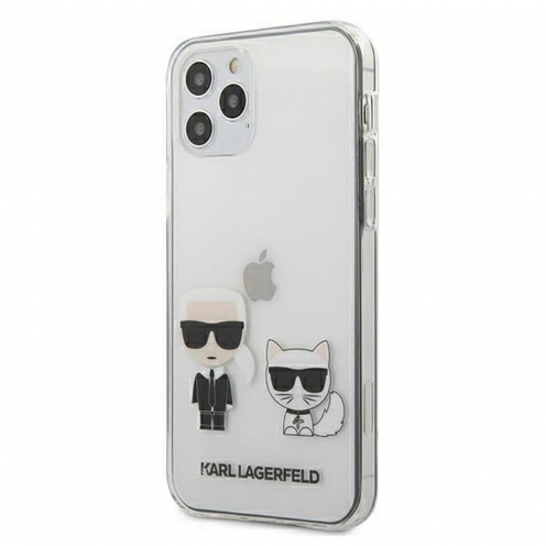 Original faceplate carcasa Karl Lagerfeld© KLHCP12MCKTR iPhone 12 / 12 PRO Transparent